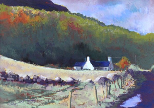 Margaret Evans_Original Pastel and Gouache_After The Rain, Clova_image 9x13