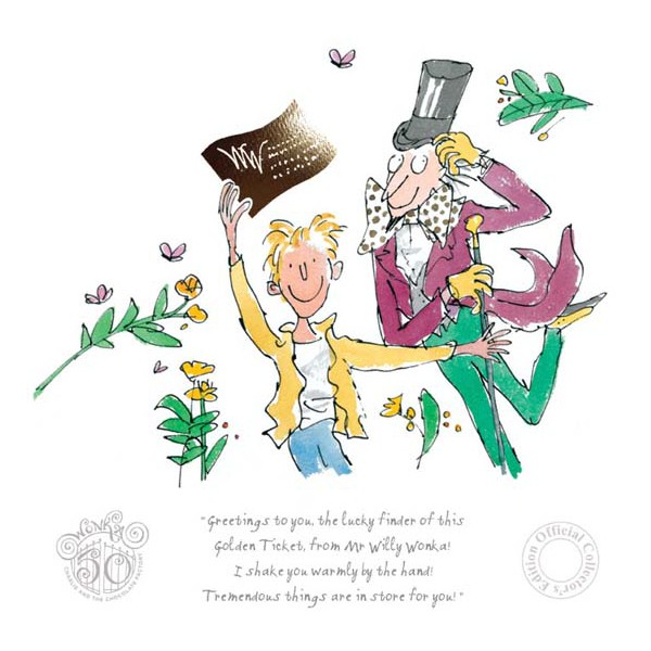 Quentin Blake, Roald Dahl_Charlie, 50th Anniversary Edition_11.5x11.5_mtd 159