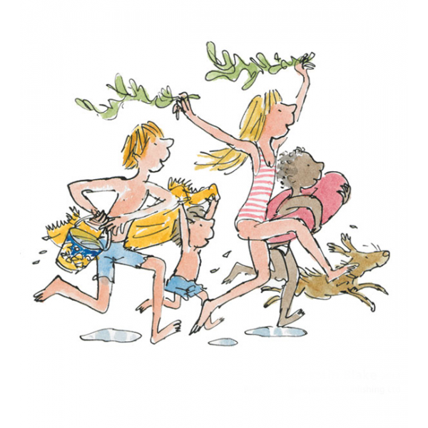 Quentin Blake_Down to the Sea_9.5x9_Signed Limited Edition_mtd299