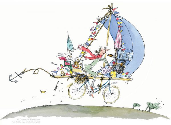 Quentin Blake_Mrs Armitage_Signed Limited Edition_12.5x16.5_mtd430