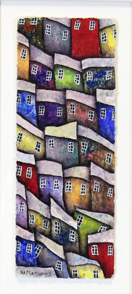 Samuel Matthews_Original_Watercolour_Town Living II_image 4.5 x 12