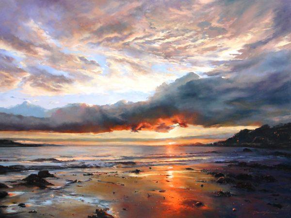 Fiona Haldane_Evening Tide, Tay Estuary_Pastel_36x48