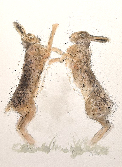 Zaza-Shelley_Original_Watercolour_Hares_image-20-x-29-£1200