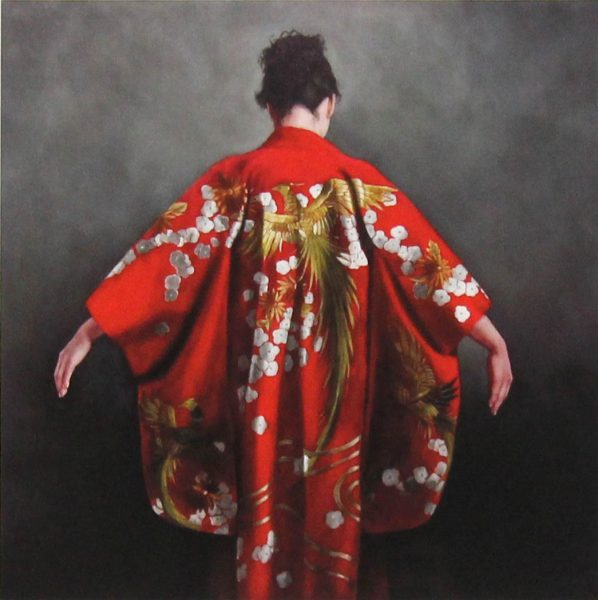 Stephanie Rew_Signed Limited Edition Print_ Scarlet Kimono_Image 9x9