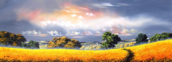 Allan Morgan_Harvest 2_Oils_Image Size 15x40