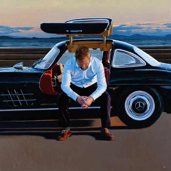 Iain Faulkner_Signed Limited Edition_Pit Stop II_17x17_30x30 inches