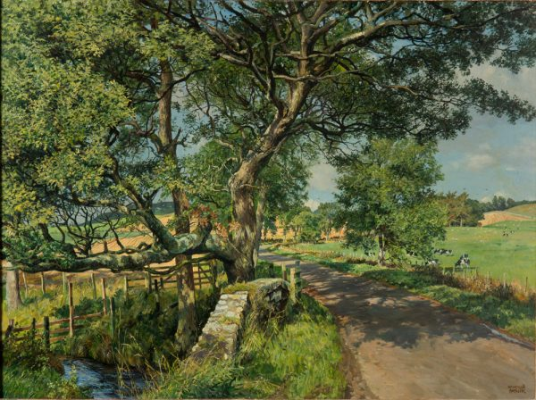 James McIntosh Patrick OBE RSA_Bridge on the Knapp Road_Oils_30x40_38x48