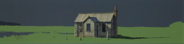 John Bell_The Old Hut, Orkney_Acrylics_6x24