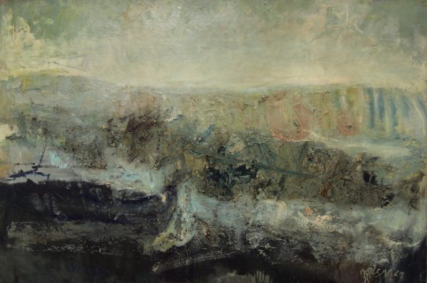 16_Lil Neilson_Original_Mixed Media_The Sea, Catterline_36 x 54