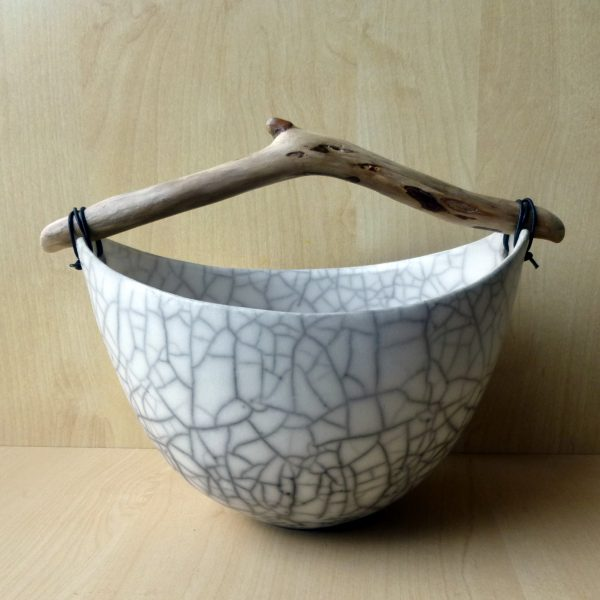 Anne Morrison_Crackle bowl with driftwood