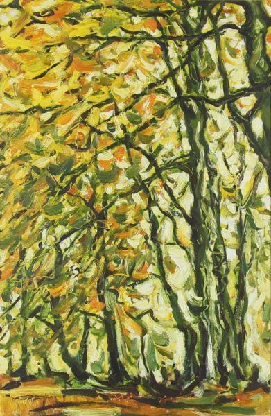 Charles Monteith Walker_Original_Oils_Autumn Beeches_ unframed 18x12
