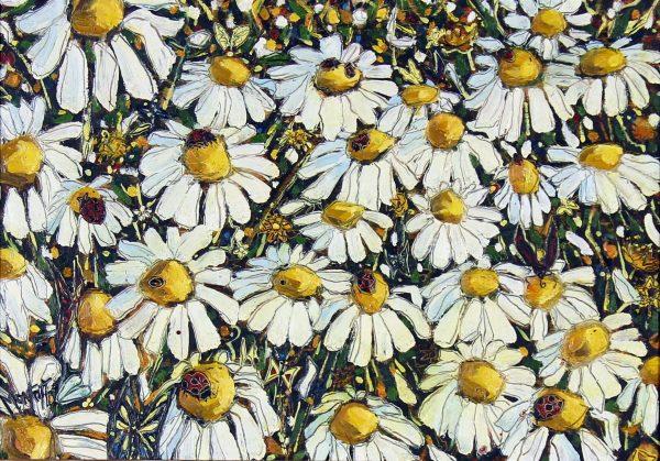 Charles Monteith Walker_Original_Oils_Bugs & Daisies_11x15 unframed