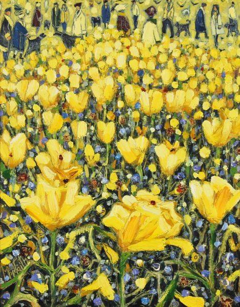 Charles Monteith Walker_Original_Oils_Yellow & Blue_12x10 _ 17.5x15 framed (2)