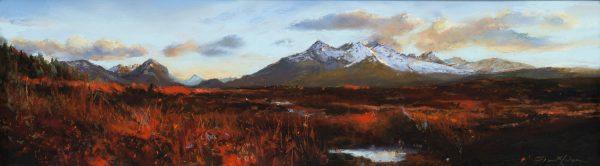 Fiona Haldane_November Flame, Cuillins, Isle of Skye_image size 6x21