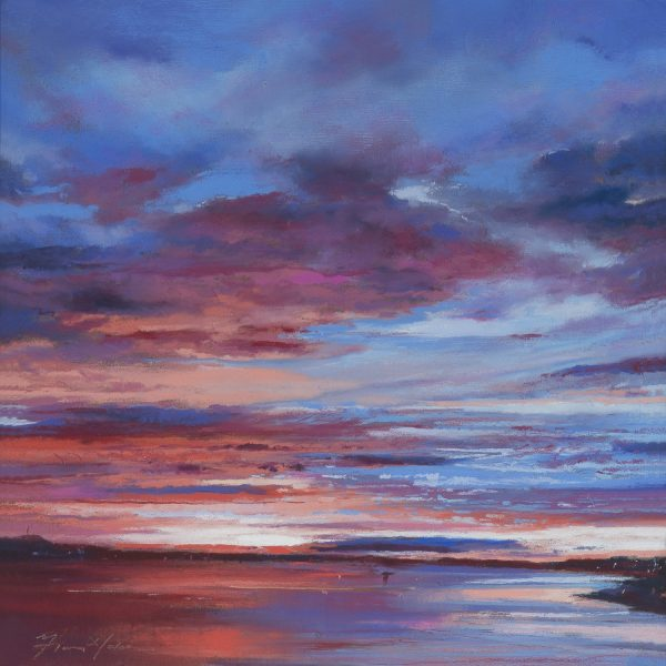 Fiona Haldane_Pastel_Blue to Red, River tay_image size 12x12