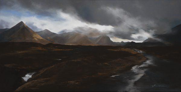 Fiona Haldane_Pastel_Cuillins, Skye_image size 24x46