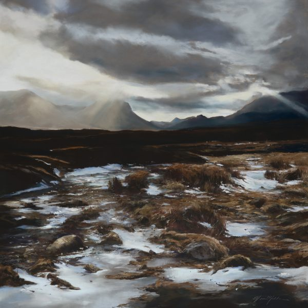 Fiona Haldane_Pastel_Dark Sun, The Cuillins, Skye_image size 36x36 copy