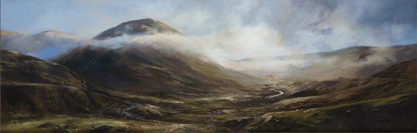 Fiona Haldane_Pastel_Fallin Mist, Glenshee_image size 16x48