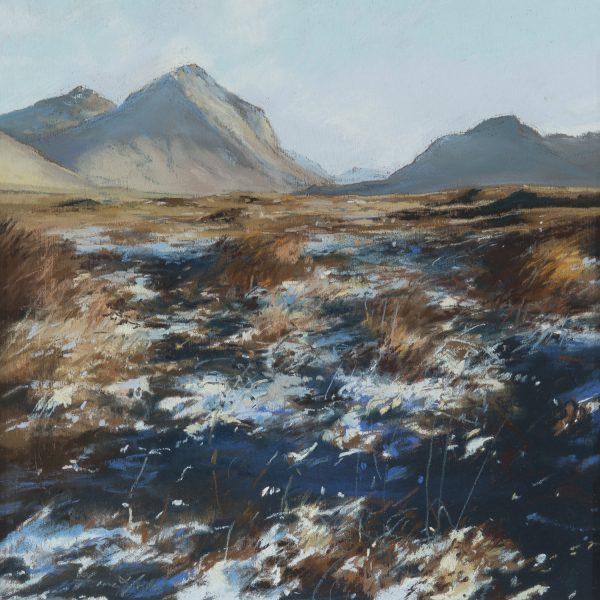 Fiona Haldane_Pastel_First Snow, Sligachan, Skye_image size 12x12