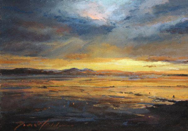 Fiona Haldane_Pastel_Low Tide, Invergowrie Bay_image size 5x7