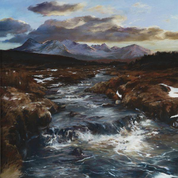 Fiona Haldane_Pastel_Melting Snow, Cuillins, Skye_image size 24x24