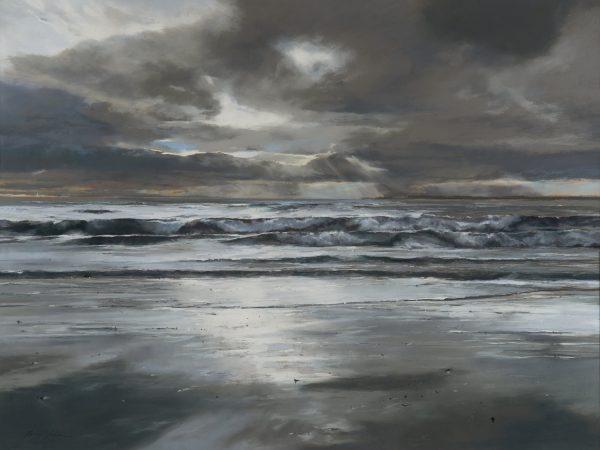 Fiona Haldane_Pastel_Morning Tide, Tay Estuary_image size 36x48