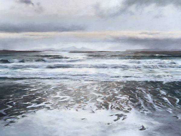 Fiona Haldane_Pastel_Shifting Sand, Ardnamurchan_image size 36x48