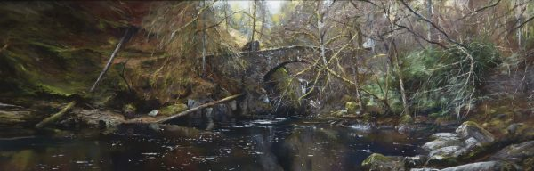 Fiona Haldane_Pastel_Still Waters, The Hermitage_image size 16x48