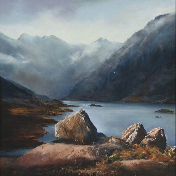 Fiona Haldane_Pastel_The Stones of Loch Coruisk, Skye_image size 24x24