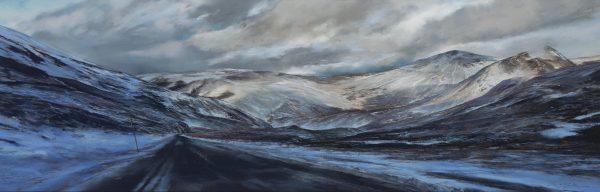 Fiona Haldane_Pastel_Winter Clouds, Glenshee_image size 16x48