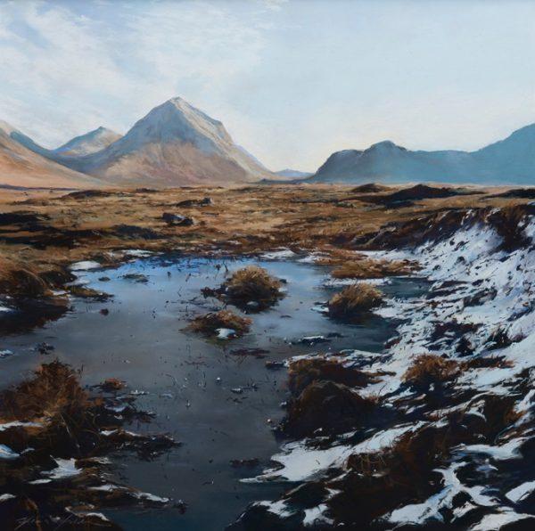 Fiona Haldane_Spring Snow, Marsco, Skye_image size 24x24