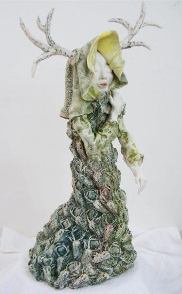 Maralyn_Reed-Wood_Original_Ceramic_Huntress