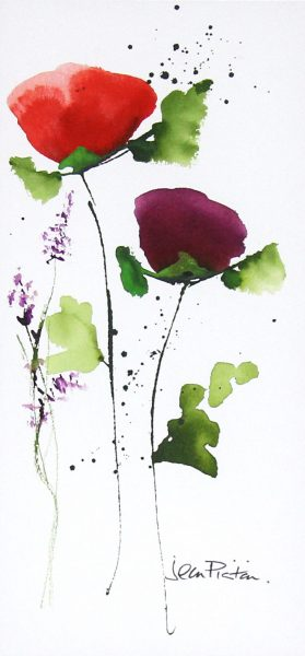 Jean Picton_Poppy Splash IX_Original Watercolour_Img 14 x 7