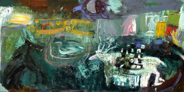 Lil Neilson_Original_Oils_The Day the Animals Came Along_48x96