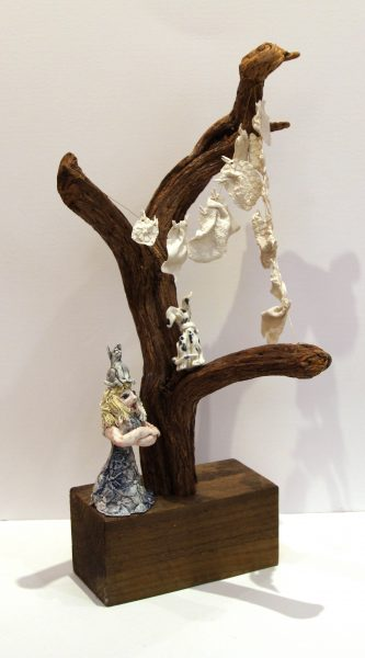 Maralyn Reed Wood_Original_ceramic and Driftwood_Washing Line I_22x11x11 (14)