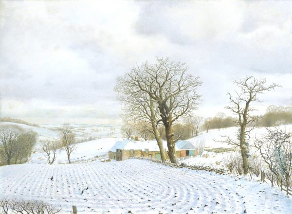 Alister Lindsay_Oil_An Angus Hill-farm in Winter_15.5x20.5