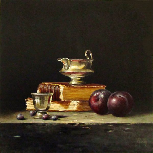 Ian Mastin_Acrylics_Book Lore_10x10