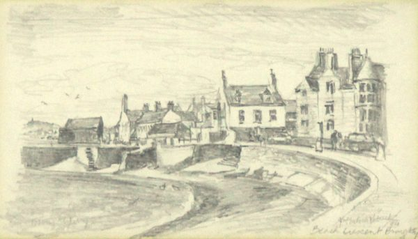 James McIntosh Patrick OBS RSA_Beach Crescent, Broughty Ferry_Pencil Sketch (1995)_5x8.75