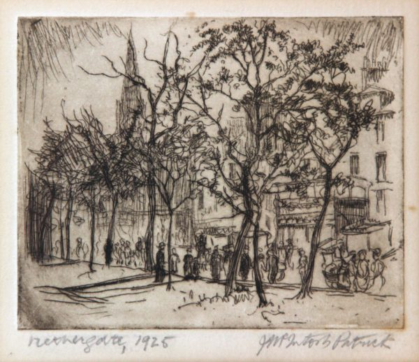 James McIntosh Patrick OBS RSA_Nethergate 1925_Etching_4.25x5.25_