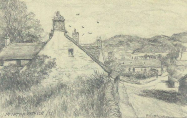 James McIntosh Patrick OBS RSA_Old Auchterhouse II_Pencil Drawing_5x8