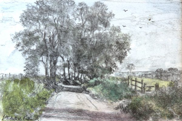 James McIntosh Patrick OBS RSA_Road near Dron_Pencil & Wash_5.5x8_