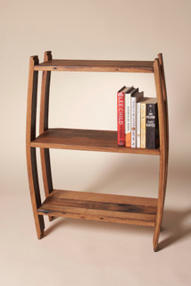 Whisky Barrel Stave Book Shelf - Small