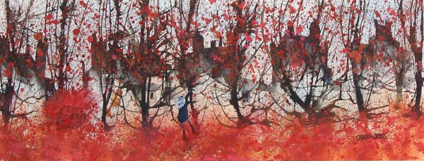 Sue Howells_Original_Catching Leaves_image 10x25
