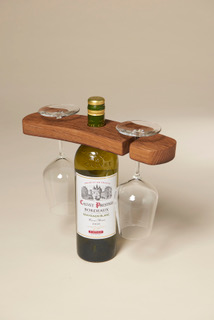 Wine Bottle & Glass Holder