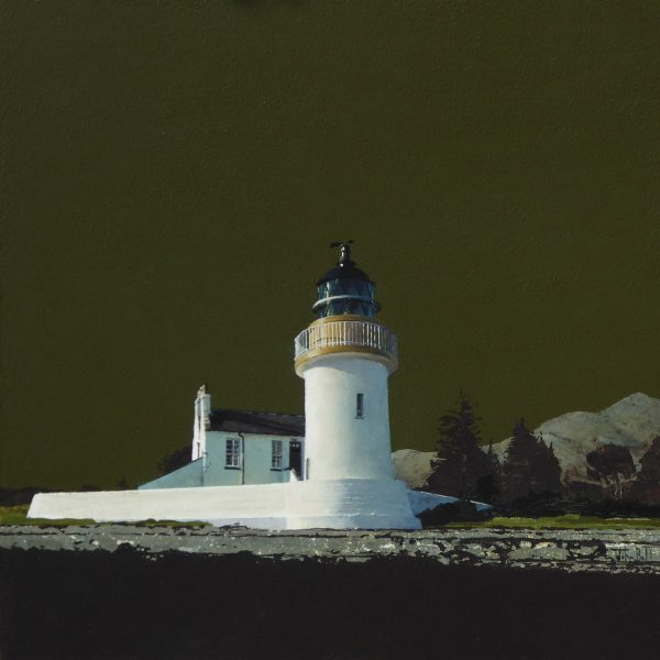 John Bell_Corran Lighthouse, Ardgour_Acrylic_18x18