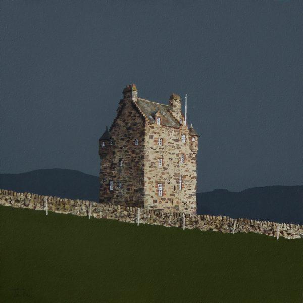 John Bell_Forter Castle, Glen Isla_Acrylic_18x18