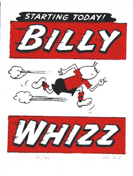Billy Whizz, Starts Today!_Framed_9x6_13x15