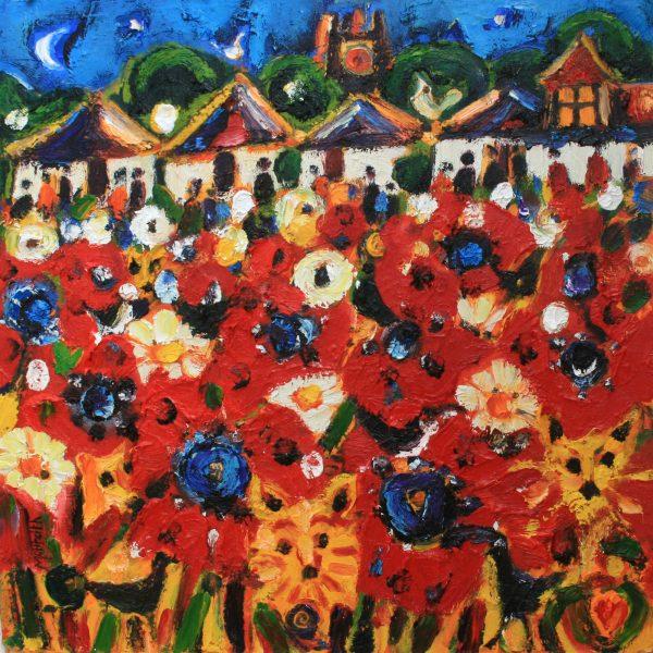 Charles Monteith Walker_Poppy Garden II_Oil_18x18