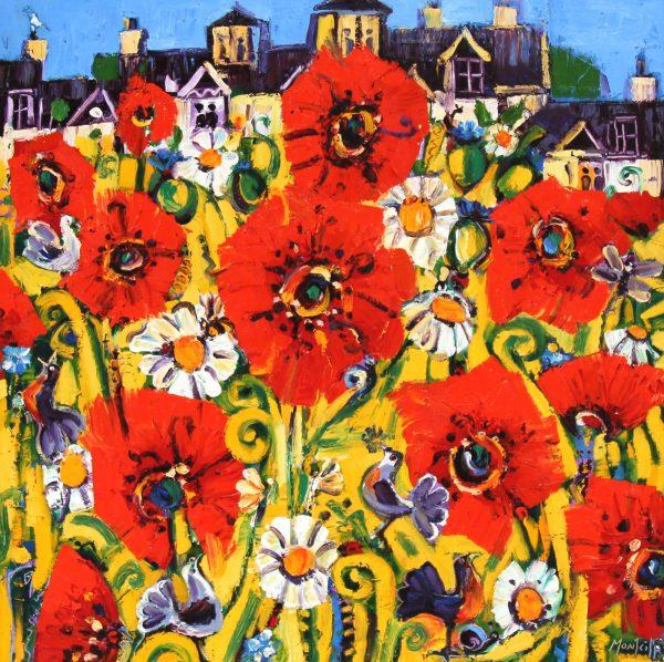 Charles Monteith Walker_Poppy Garden_Oil_30x30