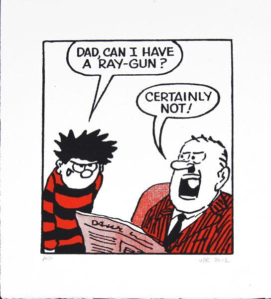Dennis the Menace Demands a Ray Gun_Medium_Unframed_16x15